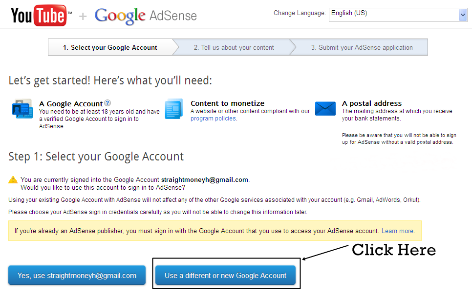 Connet Two YouTube Account with One Adsense Account