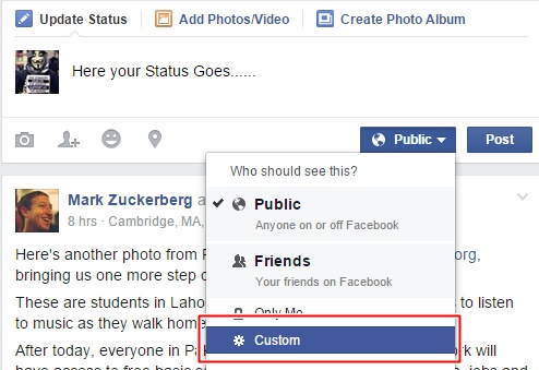 How to Hide Facebook Status From Certain Friends ? Hide your Status from your facebook friends in 2015-2016