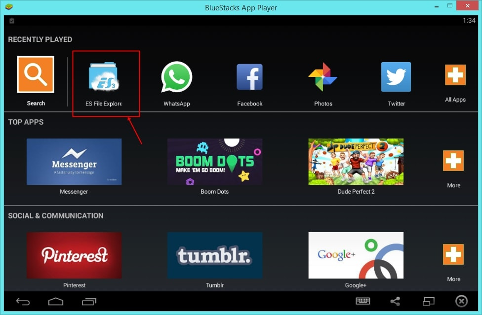 Download Whatsapp Images from Bluestacks from PC