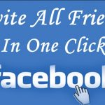 How to Invite All Friends On Facebook Page in One Click ?