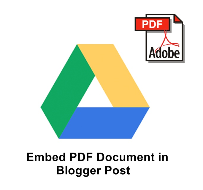 How To Embed PDF Documents In Blogger Blog Posts ?