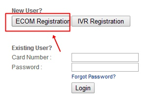 Click on ECOM Regsitration
