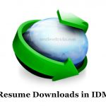 How to Resume Download in IDM (Internet Download Manager) ?