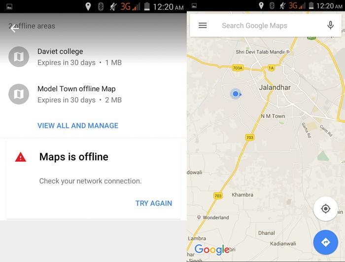 Browse Google Offline Map Area 2015