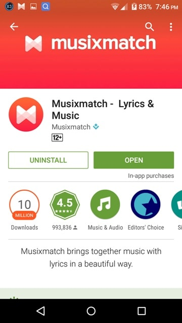 MusixMatch App Download LOGO