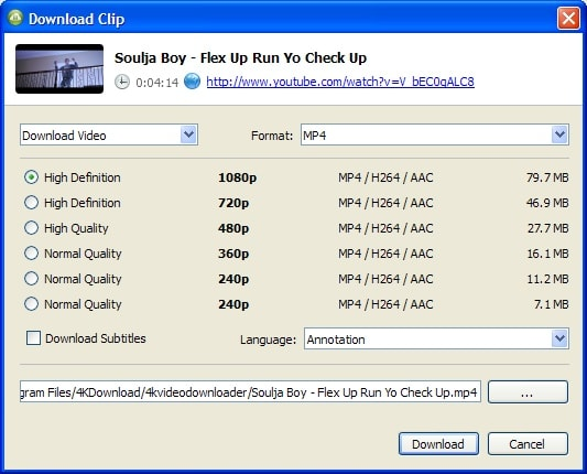 4K video downloader to download youtube videos