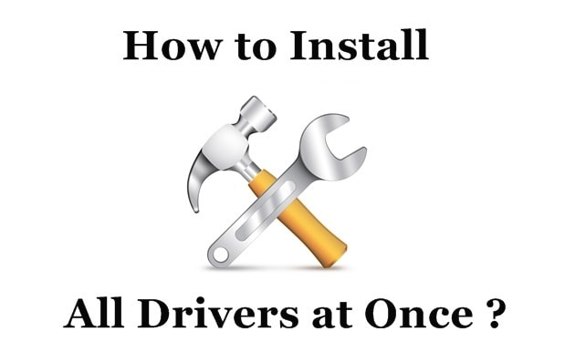 How to Install All Drivers on Windows at Once ?