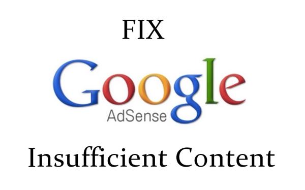 "Google AdSense ""Insufficient Content"""
