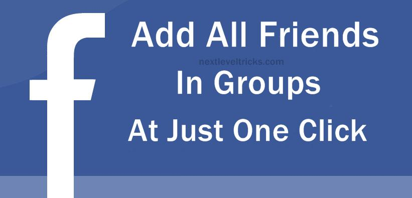 Add All Friends To Facebook Group By Single Click