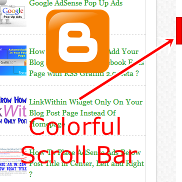 Add Colorful Scroll Bar in Blogger