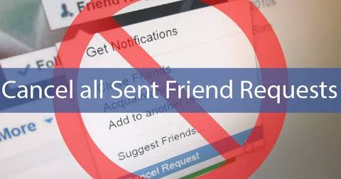 Cancel/Delete Facebook Pending Sent Requests