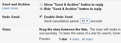 How to Undo a Sent Email in Gmail Account ?