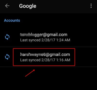 Delete Gmail Account Permanently in Android