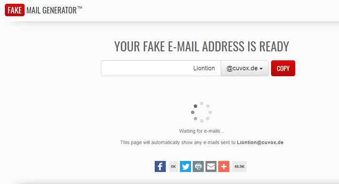 Best Sites To Generate Fake Email Address | Temporary Email Services