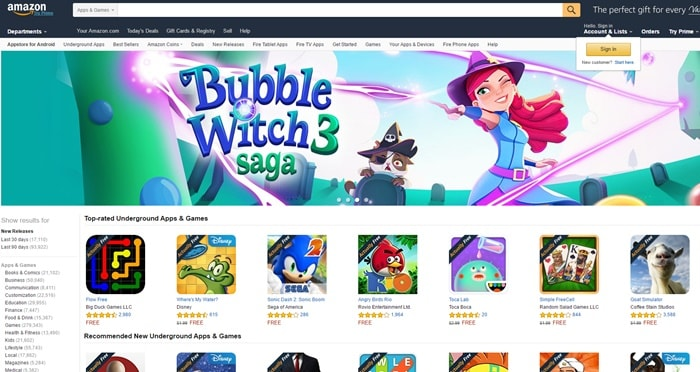 Amazon App Store - Google Play Store Alternatives