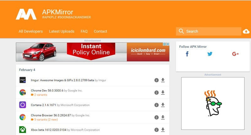 APKMirror - Best Alternatives to Google Play Store