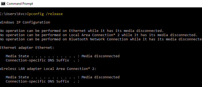 how to connect to internet from command prompt