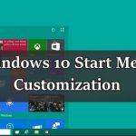 Customize Start Menu in Windows 10