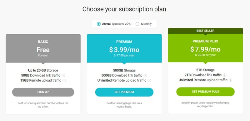 pCloud subscription plan