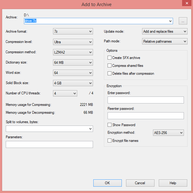 How to Compress Large Files to Smaller Size using 7zip