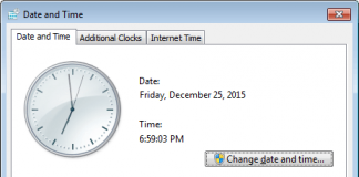 How to change Internet time server settings in Windows 10