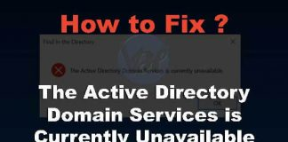 The Active Directory Domain Services Is Currently Unavailable - Solved