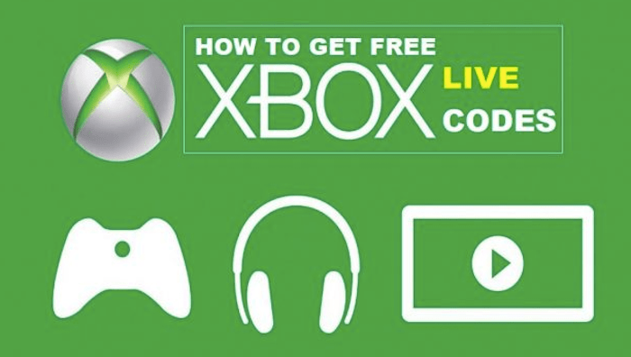 How to get Free Xbox Live Codes 2018