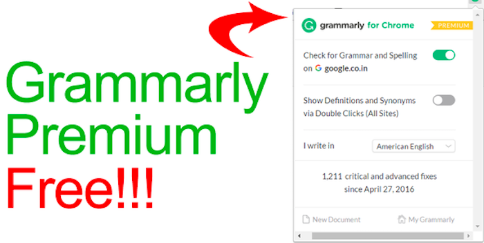 Grammarly Premium for Free