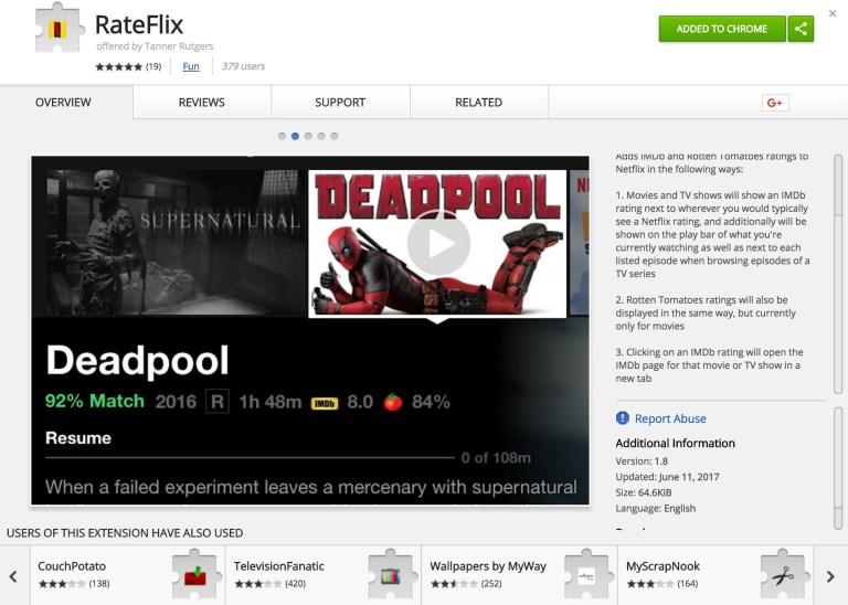 Sort netflix imdb rating